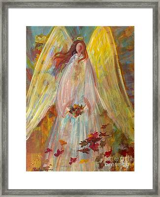 Harvest Autumn Angel Framed Print