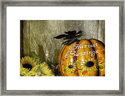Harvest Blessings 2 Framed Print