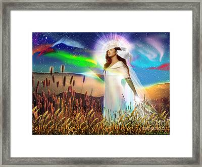 Harvest Bride Framed Print by Dolores Develde