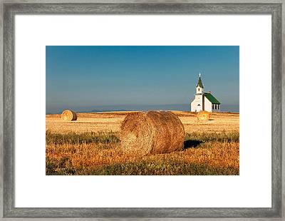 Harvest Church Framed Print by Todd Klassy