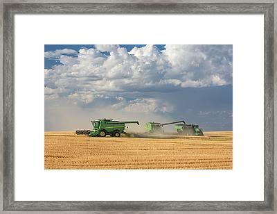Harvest Clouds Framed Print