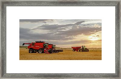 Harvest Delayed Framed Print