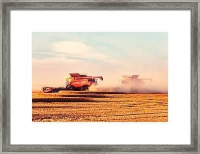 Harvest Dust Framed Print