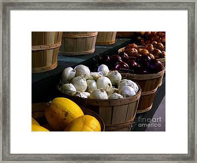 Framed Print featuring the photograph Harvest by Elfriede Fulda