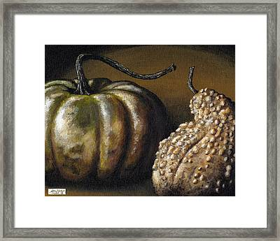 Harvest Gourds Framed Print by Adam Zebediah Joseph