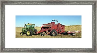 Harvest Framed Print by Hugh Kroetsch