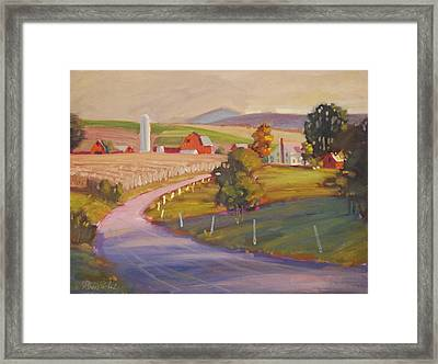 Harvest In Upstate New York Framed Print by Len Stomski
