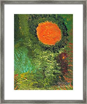 Harvest Moon Abstract Framed Print by Shelly Wiseberg