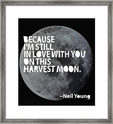 Harvest Moon Framed Print by Cindy Greenbean