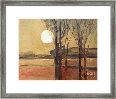 Harvest Moon Framed Print by Donald Maier