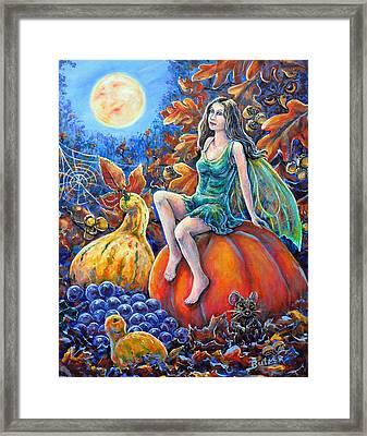 Harvest Moon Framed Print by Gail Butler