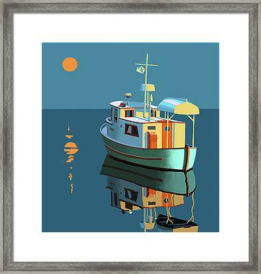Harvest Moon Framed Print by Gary Giacomelli