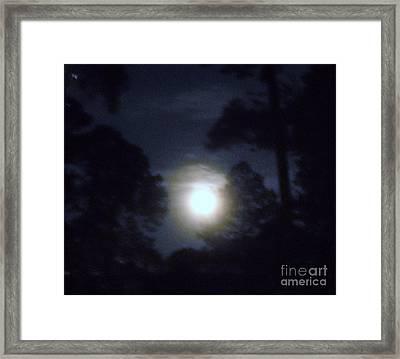 Harvest Moon Framed Print by Leslie Revels