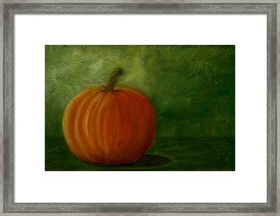 Harvest Moon Pumpkin Framed Print by Cheryl Albert