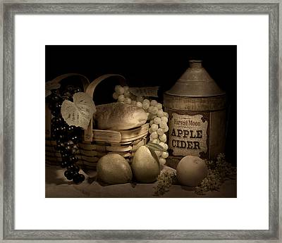 Harvest Moon Framed Print by Tom Mc Nemar