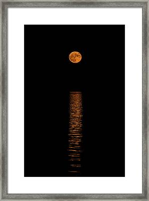 Framed Print featuring the photograph Harvest Moonrise by Paul Freidlund