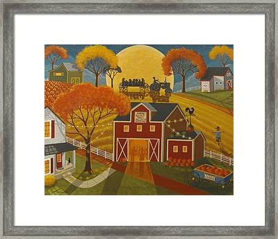 Harvest Party Framed Print by Mary Charles