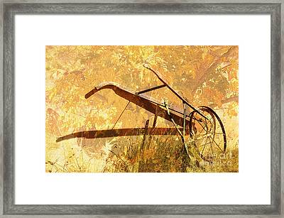 Harvest Plow Framed Print