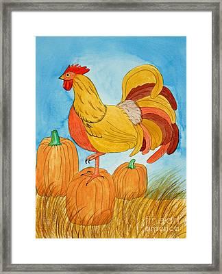 Harvest Rooster Framed Print by Norma Appleton