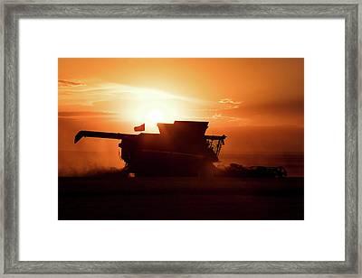 Harvest Silhouette Framed Print by Todd Klassy