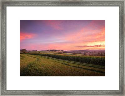Harvest Sky Framed Print