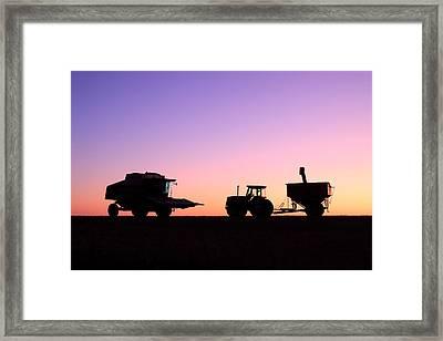 Harvest Sky Framed Print by Todd Klassy