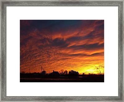 Harvest Sky Framed Print by Traci Goebel