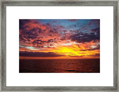 Harvest Sunrise In The Gulf  Framed Print by Bill Perry