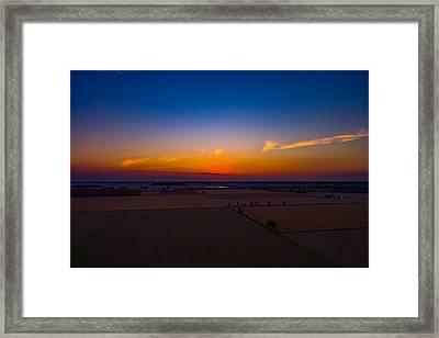 Harvest Sunrise Framed Print
