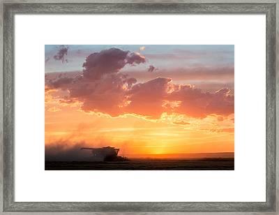 Harvest Sunset Framed Print by Todd Klassy