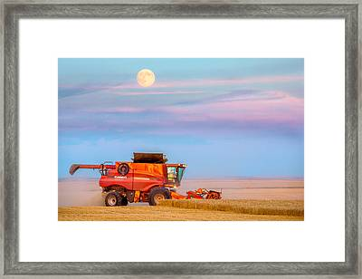 Harvest Supermoon Framed Print