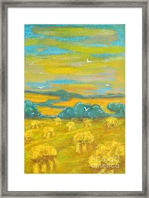 Harvest Time Framed Print by Anna Folkartanna Maciejewska-Dyba