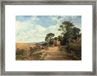 Harvest Time Framed Print by George Vicat Cole