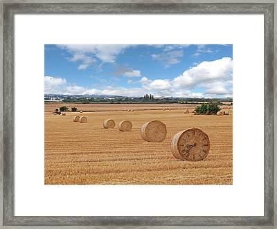 Harvest Time Framed Print by Gill Billington