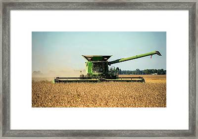 Harvest Time In Indiana Framed Print