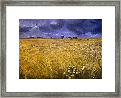 Harvest Time Framed Print by Mats Eriksson