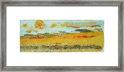 Harvest Time On The Prairies Framed Print by Naomi Gerrard
