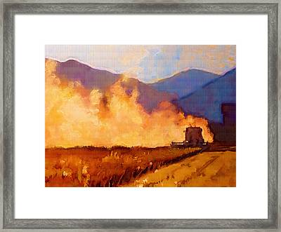 Harvest Time Framed Print by Robert Bissett