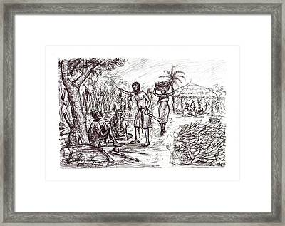 Harvest Time  Framed Print by Wale Adeoye