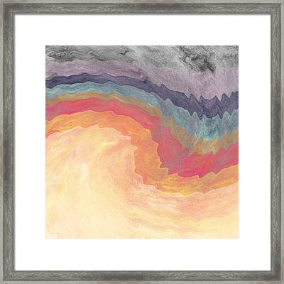 Harvest Wind- Abstract Art By Linda Woods Framed Print