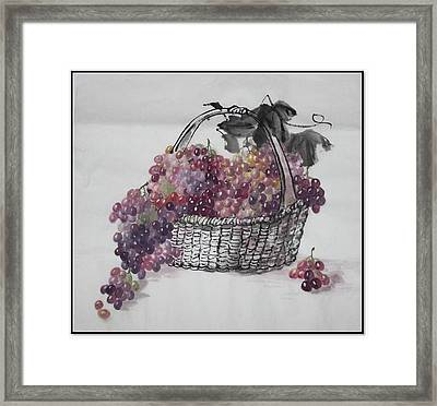 Framed Print featuring the painting Harvest Year by Ping Yan