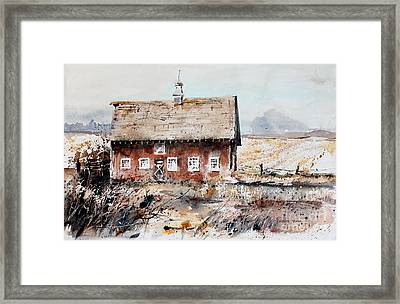 Harvested Fields Framed Print by Monte Toon