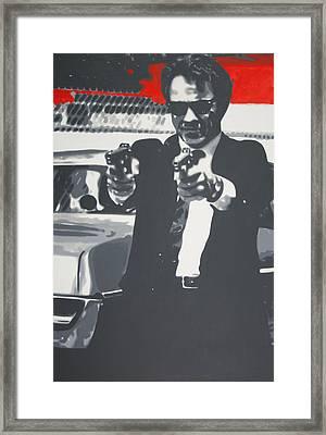 Mr White Framed Print by Luis Ludzska