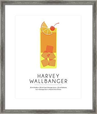 Harvey Wallbanger Classic Cocktail - Minimalist Print Framed Print