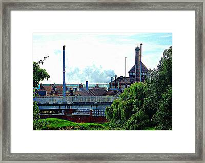 Harveys Brewery Lewes Rear View Framed Print by Dorothy Berry-Lound