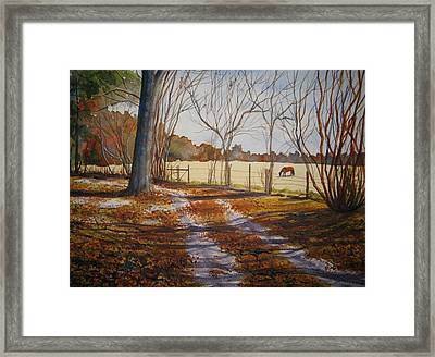 Harwell Farm Framed Print
