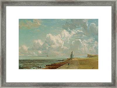 Harwich - The Low Lighthouse And Beacon Hill Framed Print by John Constable