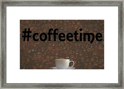 Hashtag Coffee Framed Print by Dan Sproul