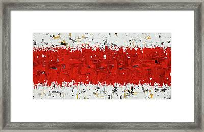 Framed Print featuring the painting Hashtag Red - Abstract Art by Carmen Guedez