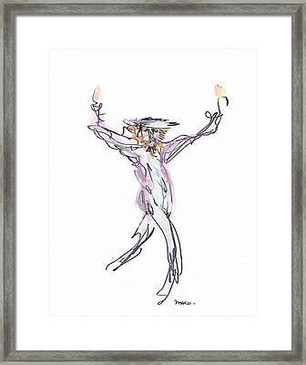 Hasidic Dancer Framed Print